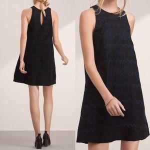 Aritzia Wilfred Trompette Black Embroidered Dress